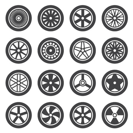 alloy wheel: wheel  icon Set