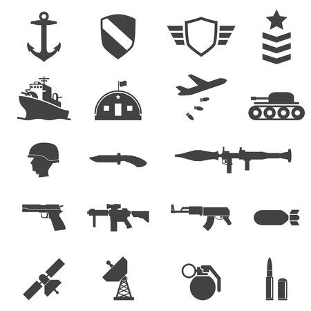 軍事のアイコン  イラスト・ベクター素材