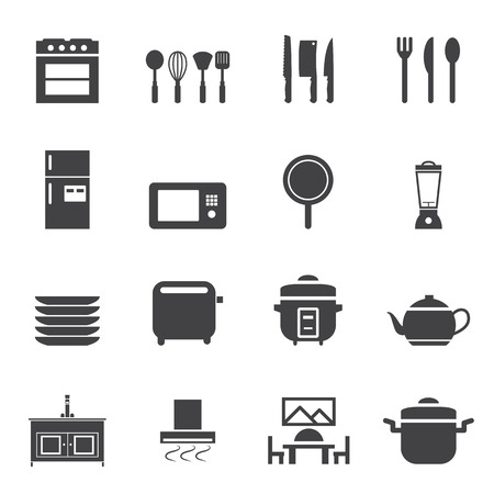 knive: Kitchen room icon set