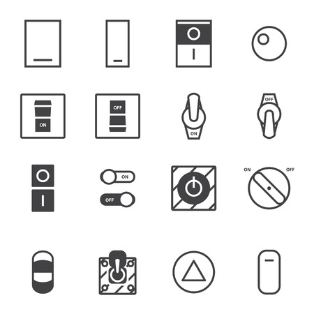 electronica: OnOff switch icon set