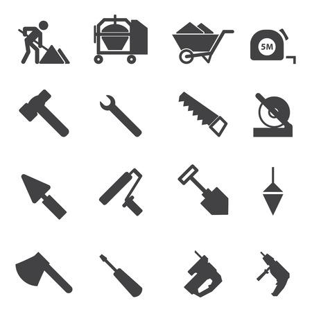 warning saw: Construction Icons set