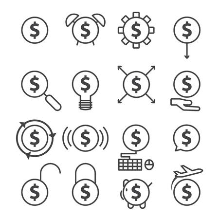 billfold: money line icon