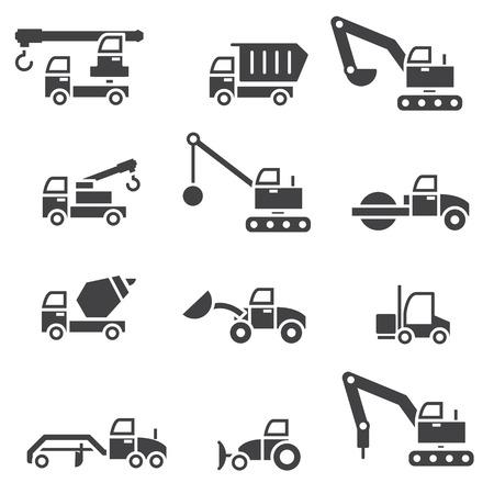 hydraulic platform: Set de vagones de construcci�n Vectores