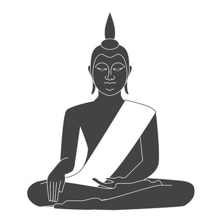thai buddha: Thailand Temple vector