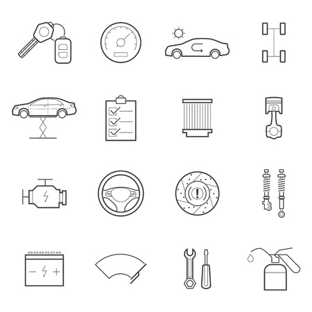 wipers: car service icon set
