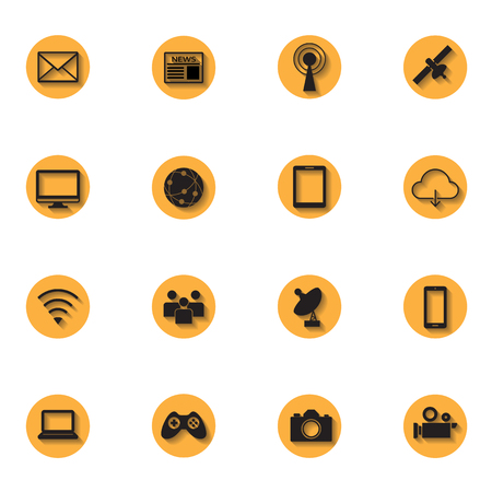 social network communication icon Vector
