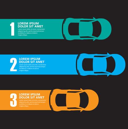 レース車のインフォ グラフィック  イラスト・ベクター素材