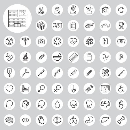 medical art: medical icons set