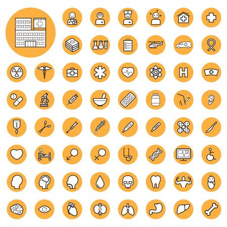 chemical laboratory: medical icons set