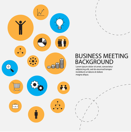 sales meeting: business management background Illustration