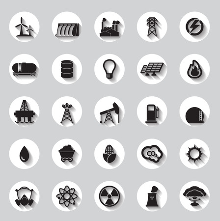signs and symbols: Energy, electricity, power icons Signs and Symbols Illustration