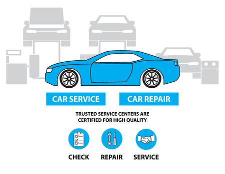 car part: Car service,Flat designed banners for ui-ux design andweb design