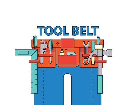 tool belt ,vector