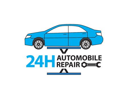 auto shop: Car service,Auto mechanic working in garage, Repair service