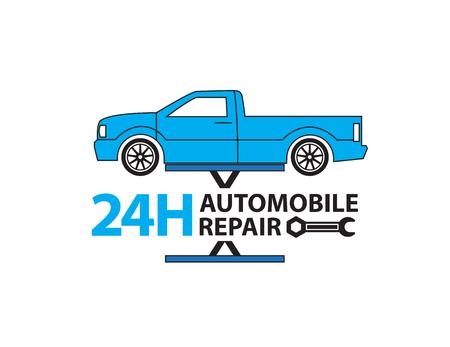 spare parts: Car service,Auto mechanic working in garage, Repair service