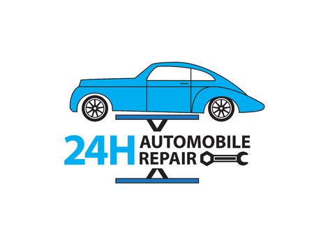 auto service: Car service,Auto mechanic working in garage, Repair service