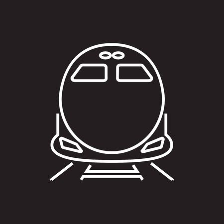commuter: High-speed commuter train vector icon,symbol