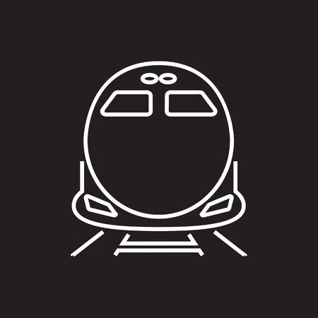 highspeed: High-speed commuter train vector icon,symbol