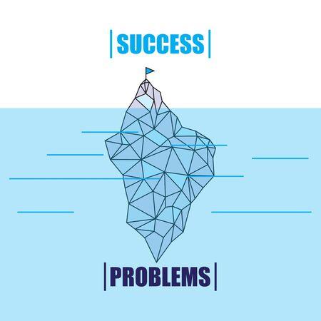 iceberg: Iceberg vector Illustration