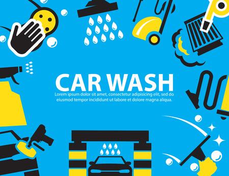 Autowasch-Hintergrund Standard-Bild - 42795779