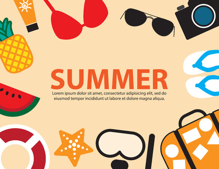 beach side: travel summer holiday beach side,vector background