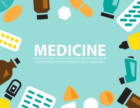 salts: medicine ,vector background Illustration
