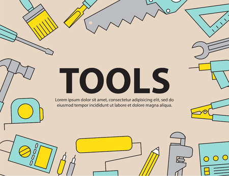 polluted cities: Tool Background Equipment ,vector Illustration