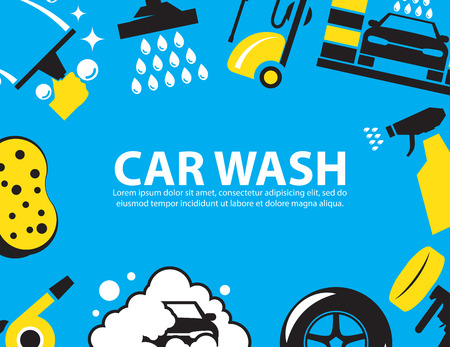 wash car: Car wash Background
