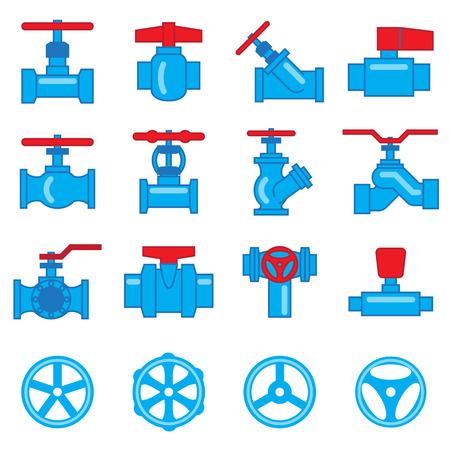 manejar: Conjunto de válvulas y grifos icono