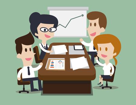 Zakelijke bijeenkomst en brainstormen kamer