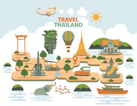 monumento: Viajes Señales tailandia Vectores