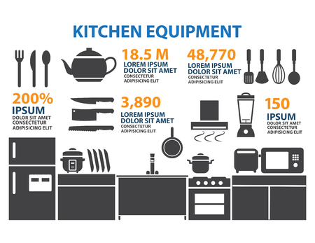 knive: Kitchen Room Icon Infographic Elements Illustration