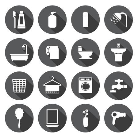 cuarto de baño: Iconos cuarto de baño fijados