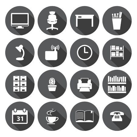 icone office: ic�ne de bureau Set