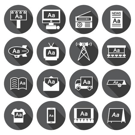 Advertising icon  Set,circular Labels