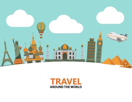 Travel illustration design