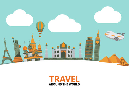 island cartoon: Travel illustration design