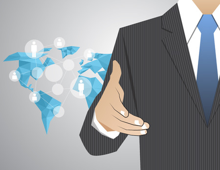 stretta di mano: Decisione stretta di mano di congratulazioni Corporation Comunicazione