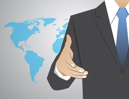 professional relationship: handshake Congratulatory Corporation Decision Communication Illustration