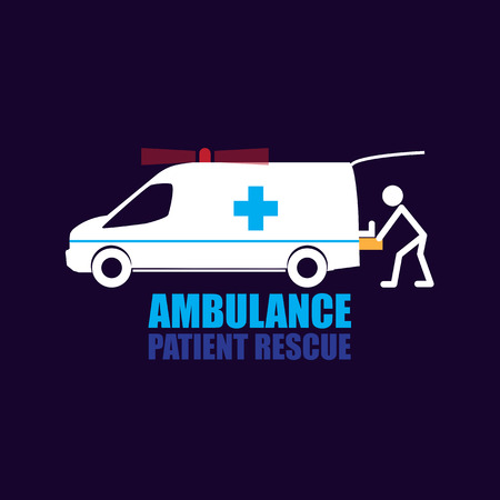 Patient Rescue ambulance vector and Symbol Illustration