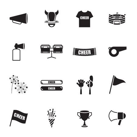 sports equipment: cheer equipment Sports icons set