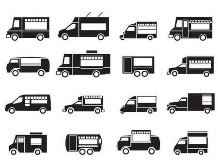 food truck icon set
