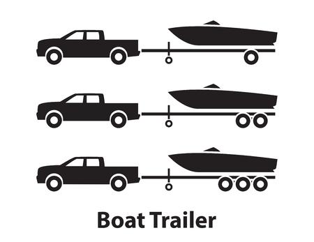 Boat trailers,symbol