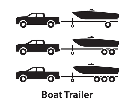 bateau: Remorques de bateau, symbole Illustration