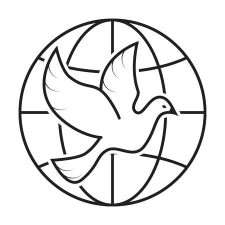 and symbol: Peace dove, Icons and symbol