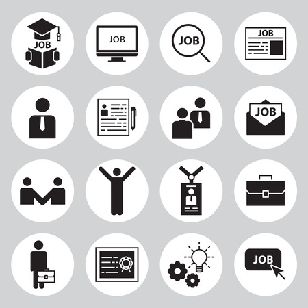 business briefcase: find a job icons