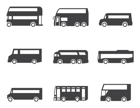 bus driver: Icono de autob�s conjunto