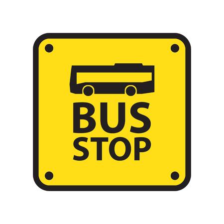 passenger transportation: bus stop sign