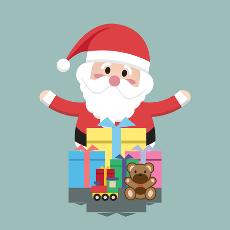 clauses: Santa Clauses Gift Box for christmas character Illustration