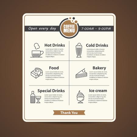 main dishes: cafe menu design